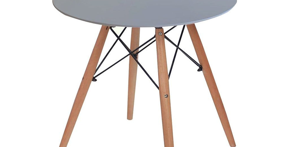 Eiffel Round Dining Table 4 Seater 80cm - Grey