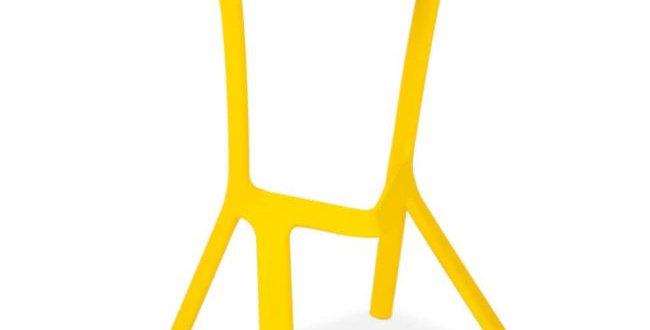Miura- Plastic Bar Stool, Yellow