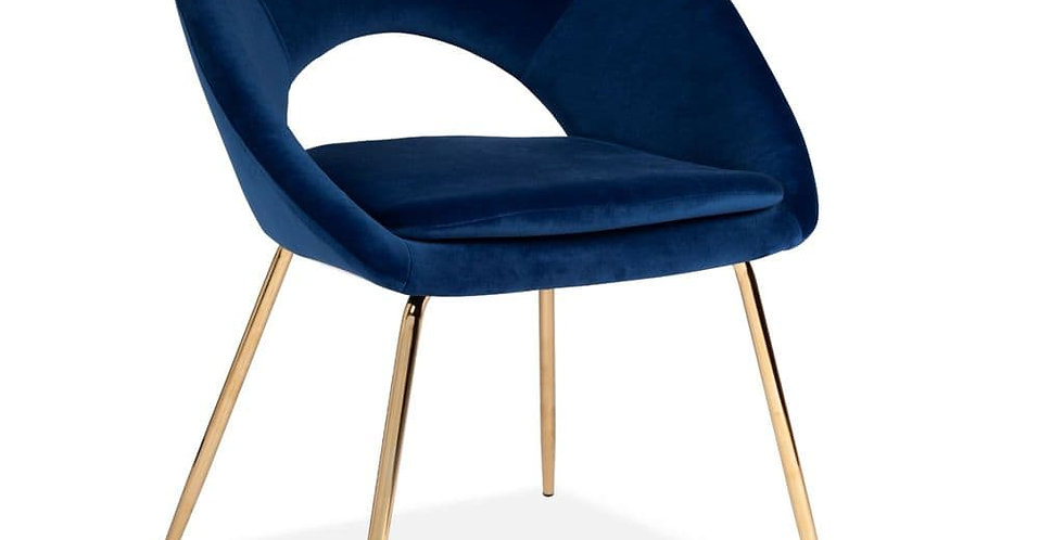 Blue Open Back Dining Chair