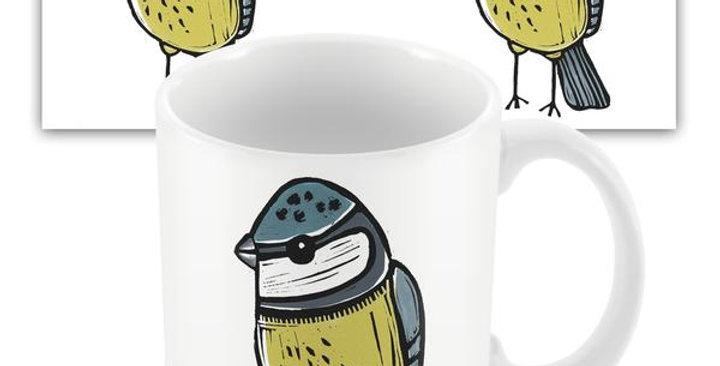 Bluetit bird mug