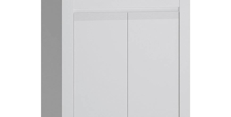 Novi 2 Door Cabinet in Alpine White
