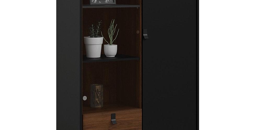 Ry China cabinet 1 door + 1 glass door + 1 drawer