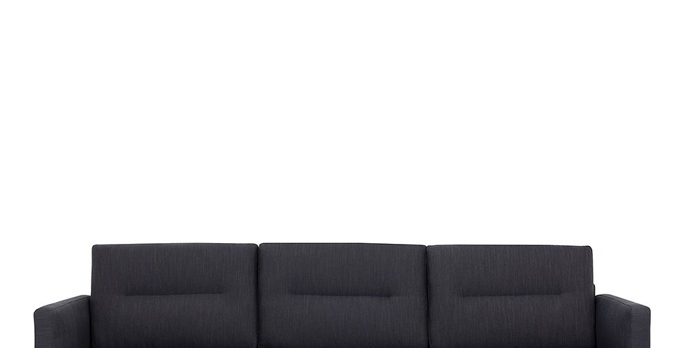 Larvik 3 Seater Sofa - Antracit, Black Legs