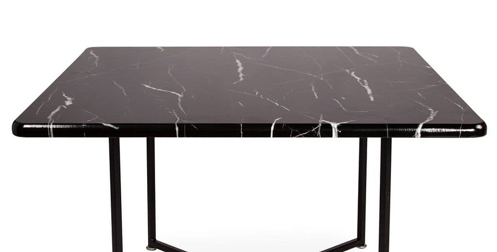 Square coffee table with Black marble top