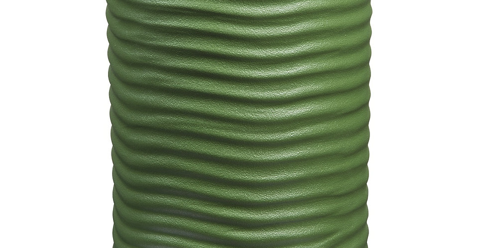 ROUND GREEN VASE BY MAX LAMB