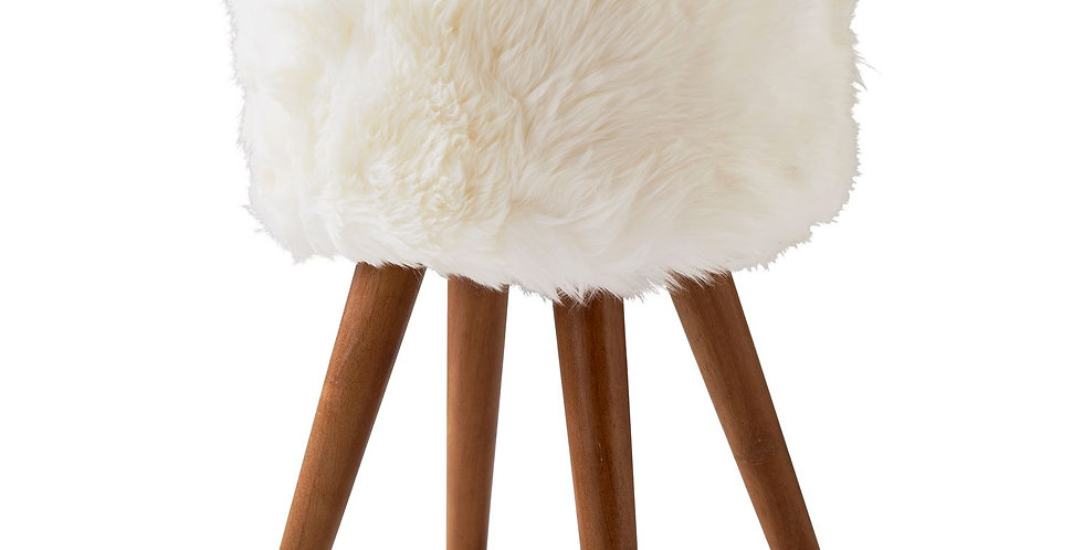 Natural Sheepskin Stool