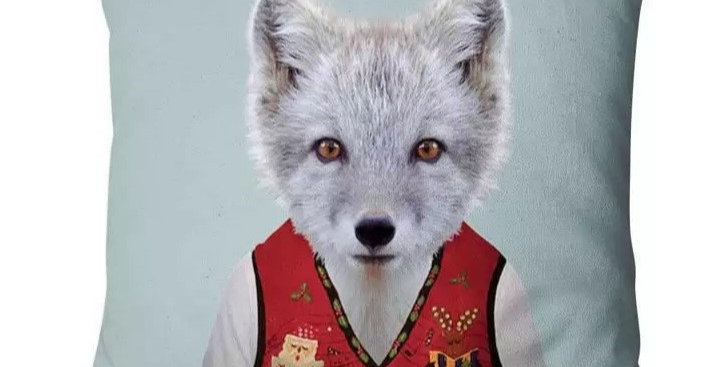 Super Soft Velvet Fox In Waistcoat Cushion