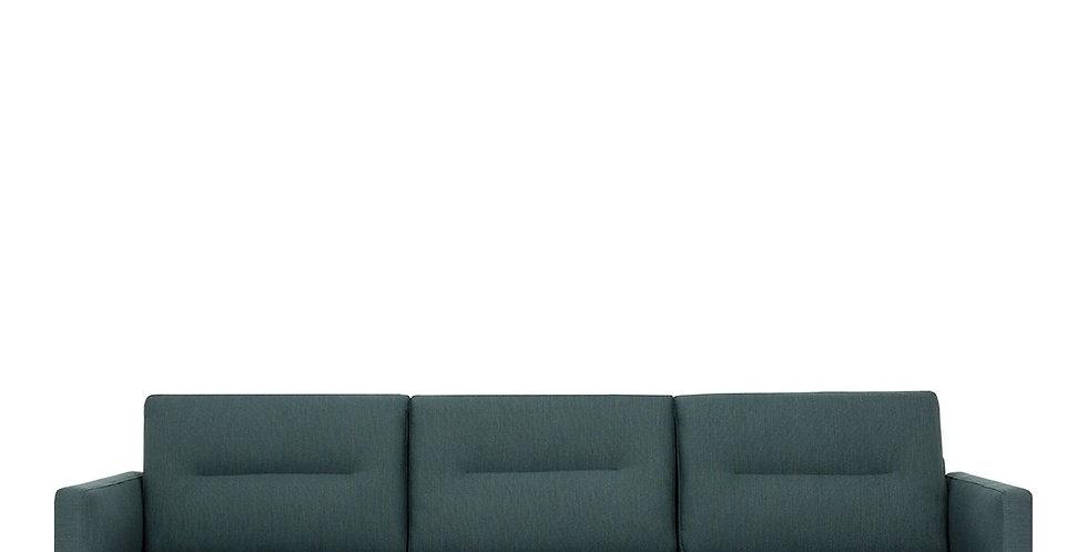 Larvik 3 Seater Sofa - Dark Green, Black Legs