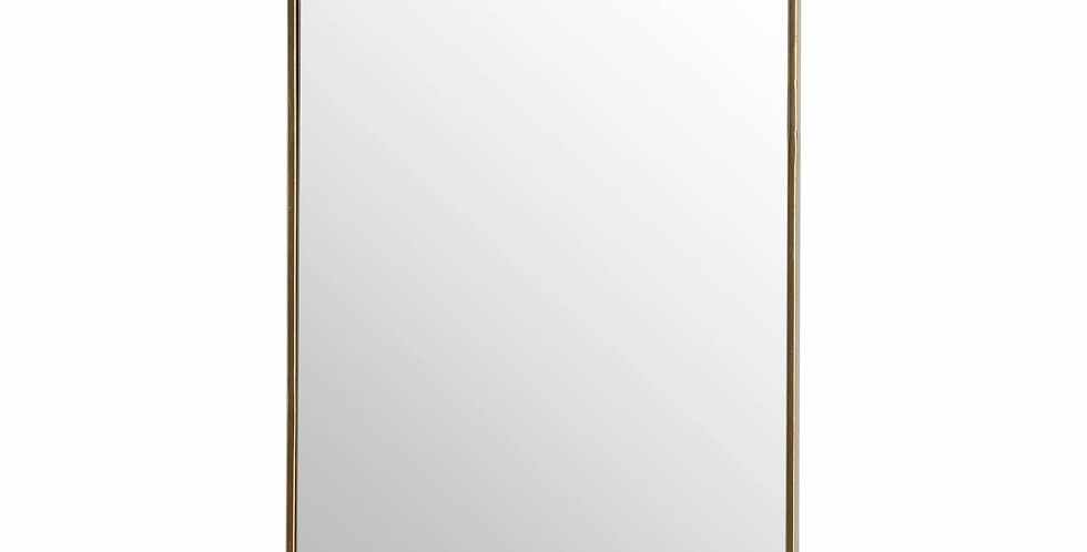 Retro Rectangular Framed Bronze Mirror