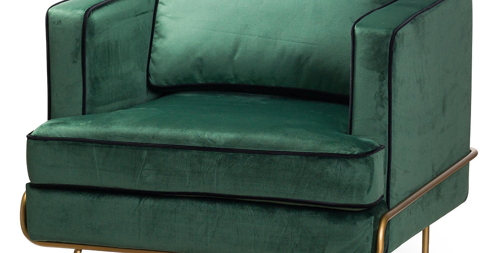 Arden Emerald Green Velvet Arm Chair