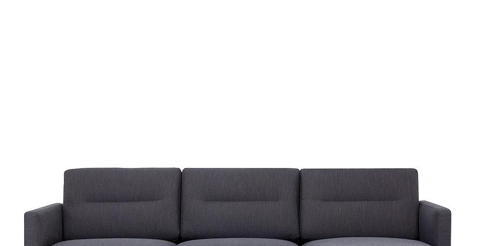 Larvik Chaiselongue Sofa (RH) - Antracit, Oak Legs