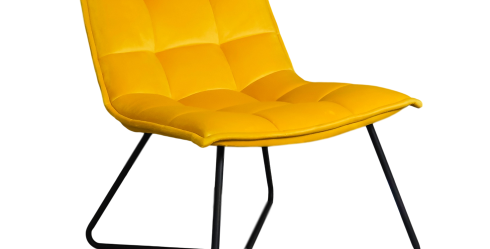 Yellow Velvet Accent Chair