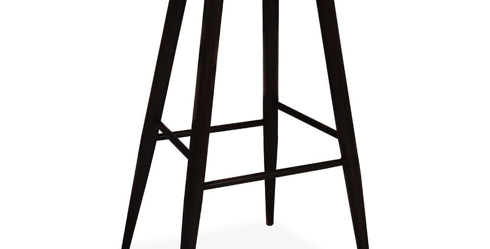 About a Stool, Grey Barstool with Black Metal Legs