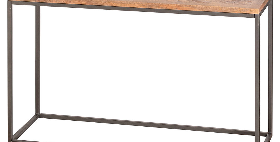 Hoxton Collection Console Table With Parquet Top
