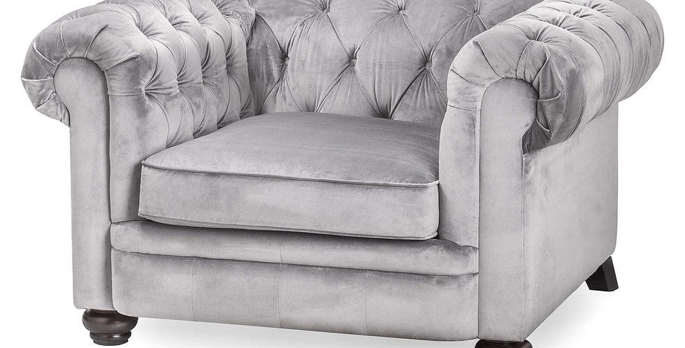 Grey Velvet Chesterfield Chair