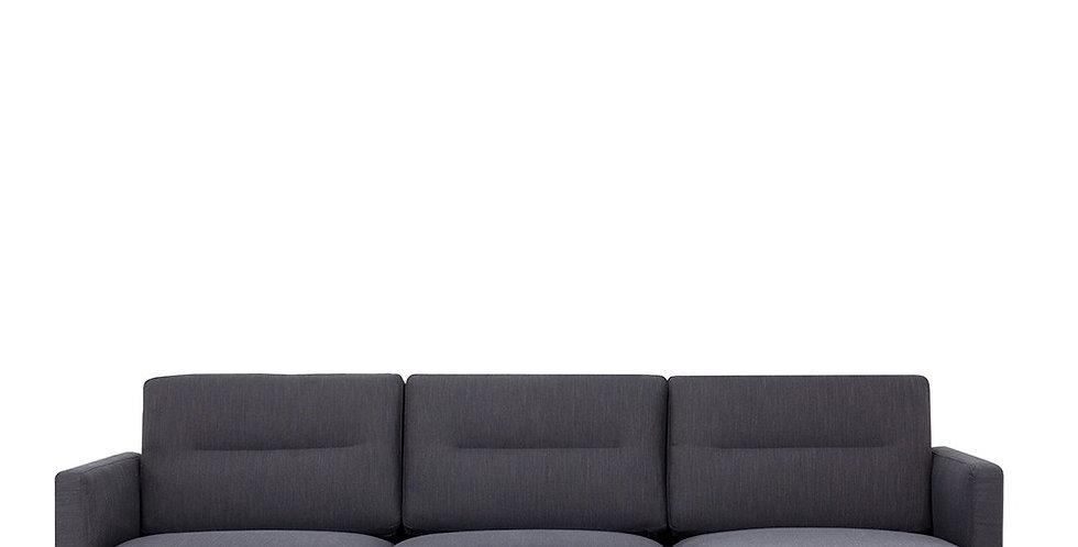 Larvik Chaiselongue Sofa (RH) - Antracit , Black Legs