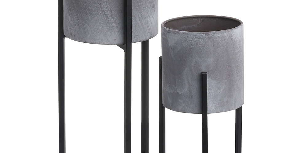 Set Of Two Concrete Table Top Planter