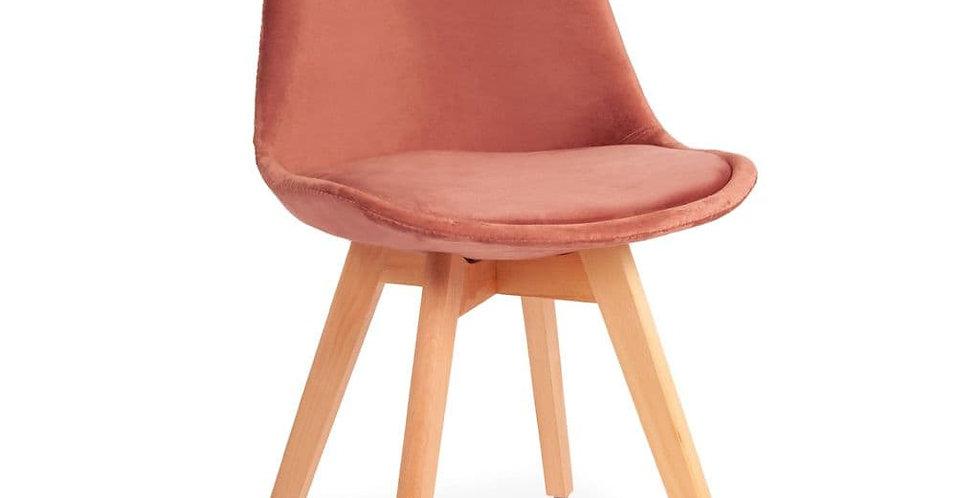 Velvet Tulip Dining Chair, with Beech Legs