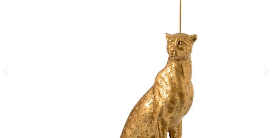 Lui the life size leopard floor lamp
