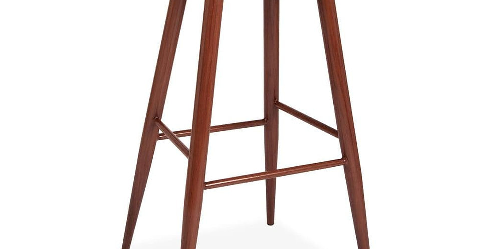 About a Stool, Black Barstool with Beech Metal Legs