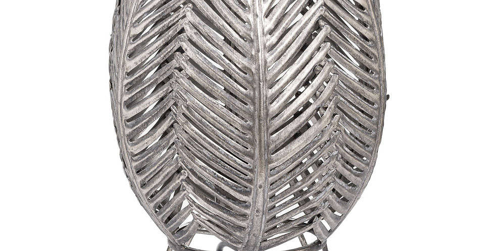 Antique Bronze Palm Closed Leaf Table Lamp