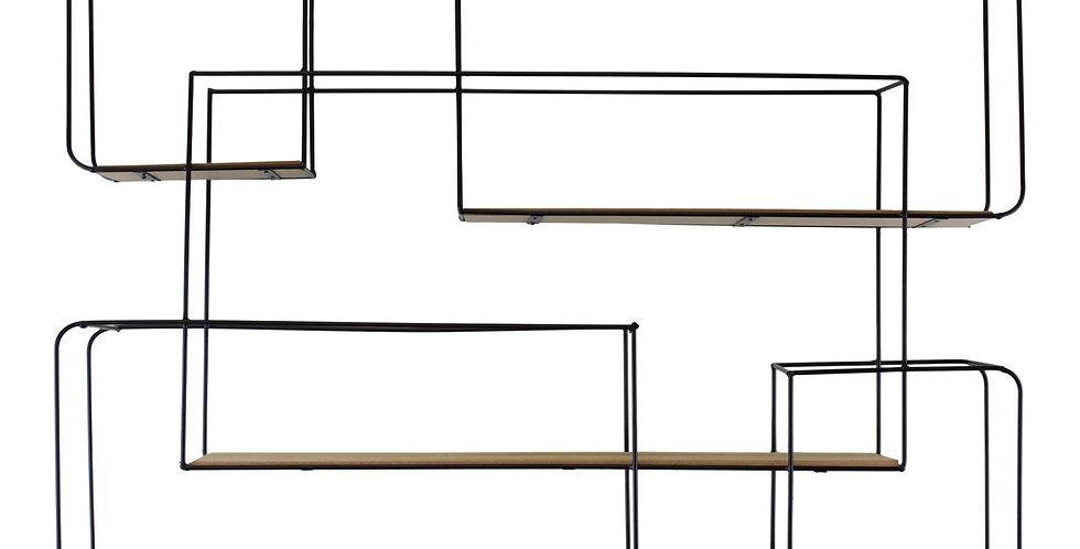 Extra Large Rectangular Metal Wall Shelf
