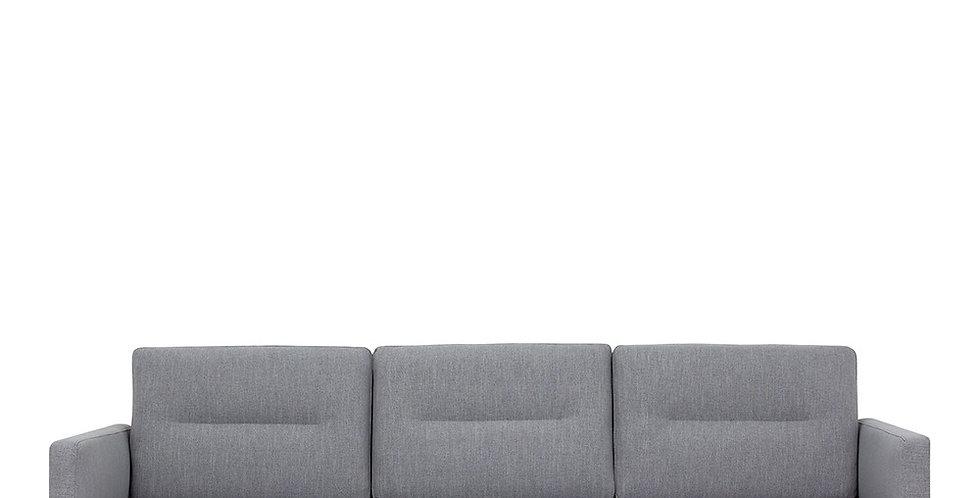 Larvik 3 Seater Sofa - Grey, Oak Legs