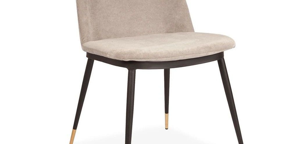 Messi Dining Chair- with  Black Legs and Gold Feet
