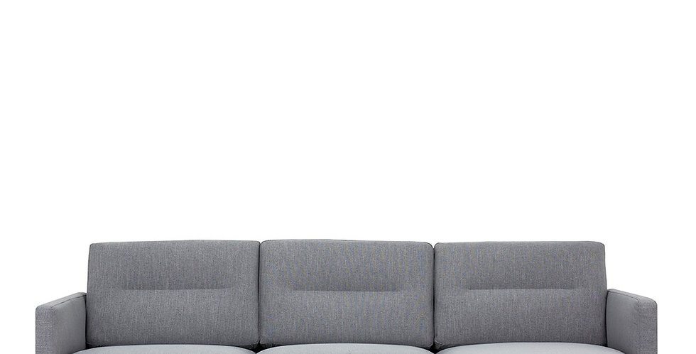 Larvik Chaiselongue Sofa (RH) - Grey, Black Legs
