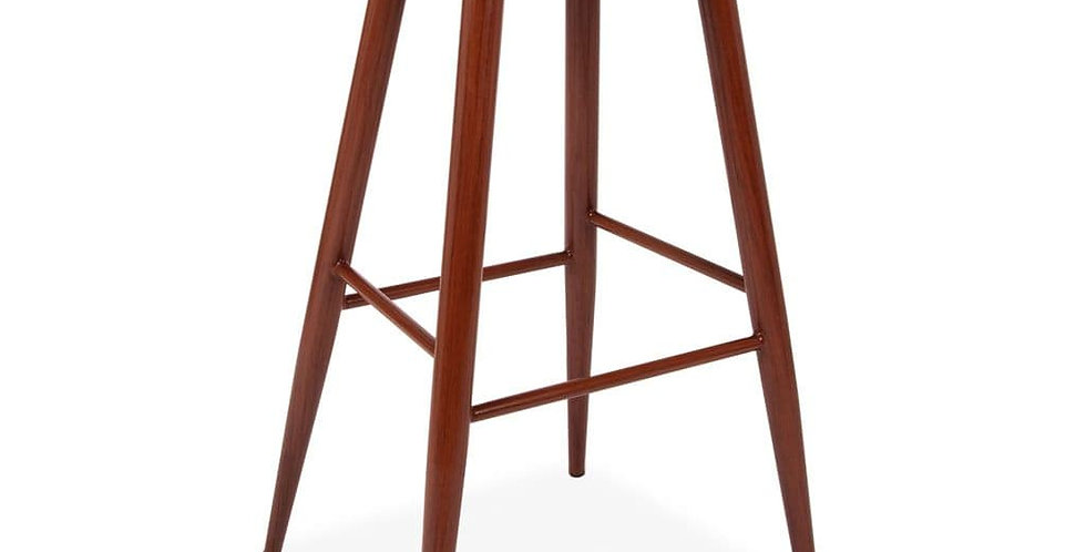 About a Stool, Black Barstools with Walnut Metal Legs