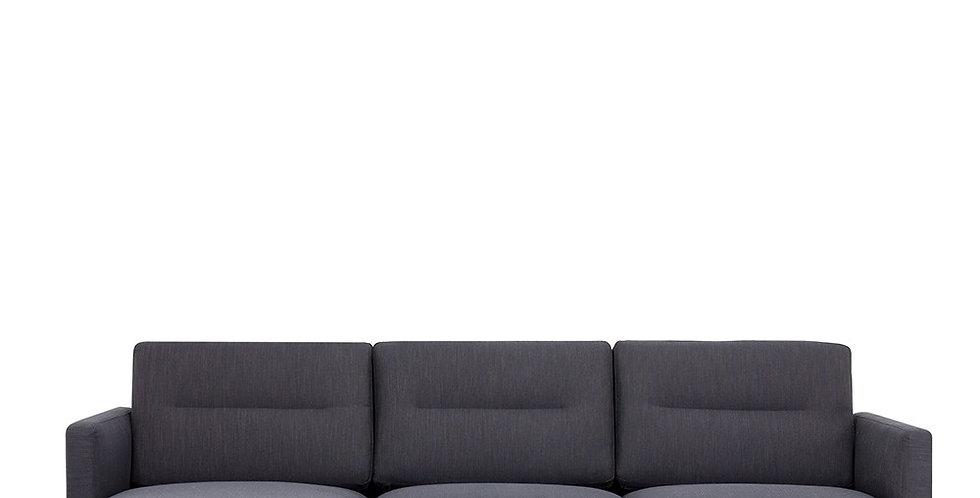 Larvik Chaiselongue Sofa (LH) - Antracit, Oak Legs