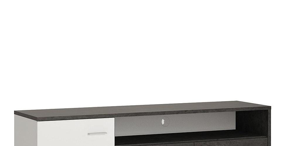 Zingaro 1 door 2 drawer wide TV cabinet