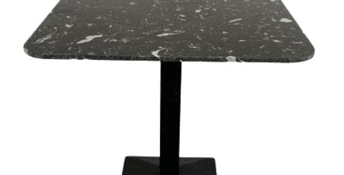 Artist square black Dining table with black leg-85cm
