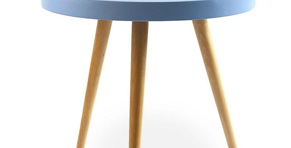 Capri Round Tray Table, Matte Blue 50cm