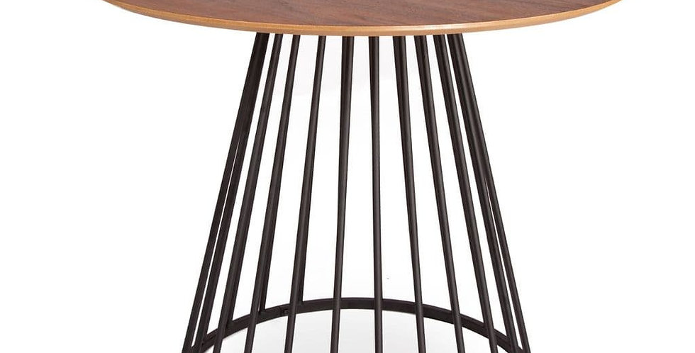 Walnut Liverpool Dining Table- with Black Legs