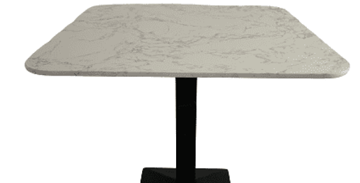 Artist square white Dining table with black leg-85cm