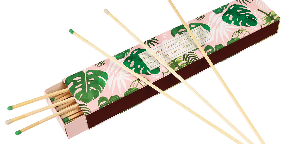 TROPICAL PALM BOX OF EXTRA LONG SAFETY MATCHES