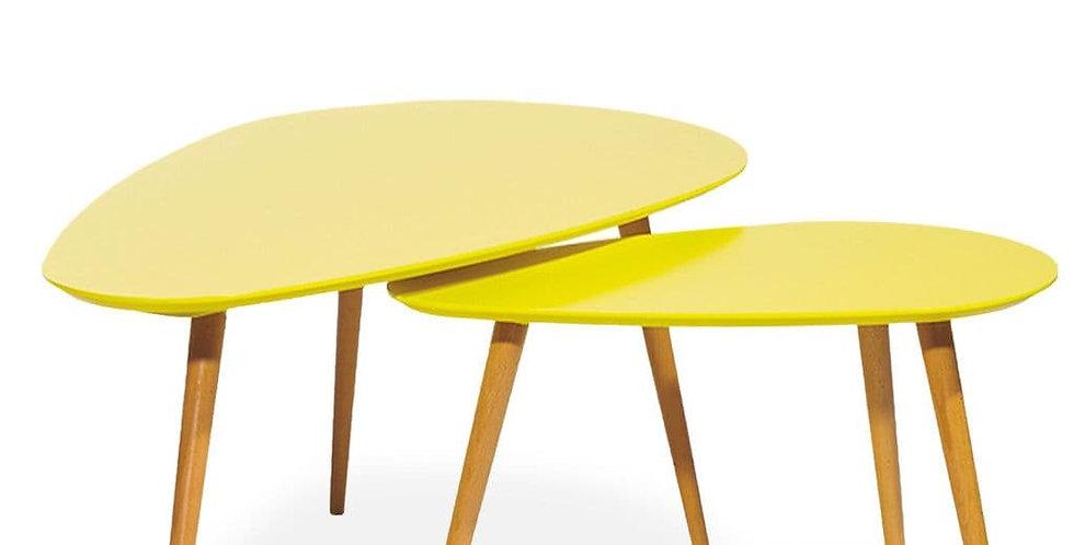 Petal Nest of Tables, Matte Yellow