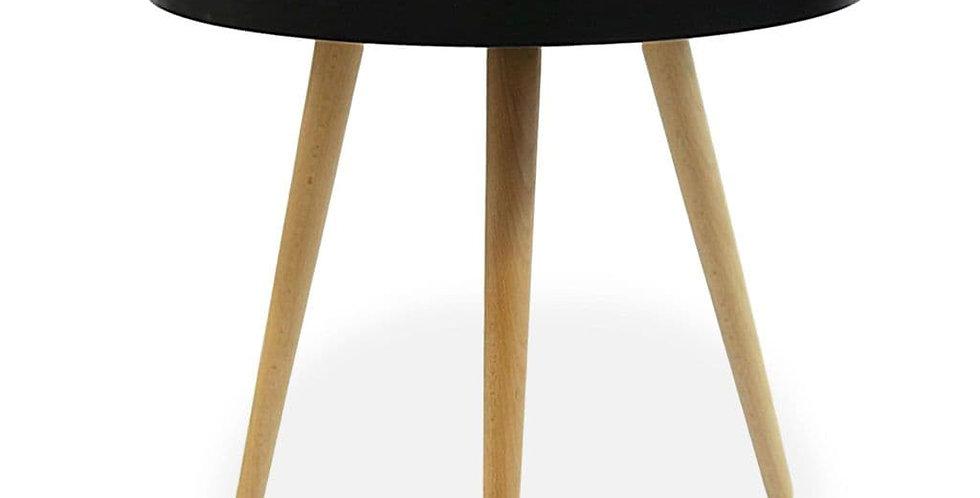 Capri Round Tray Table, Matte Black 60cm
