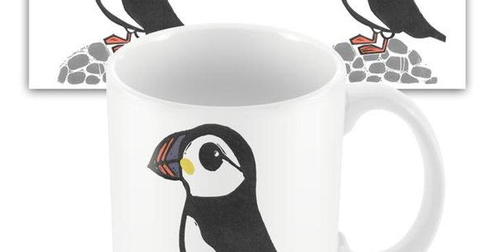 Puffin seaside mug