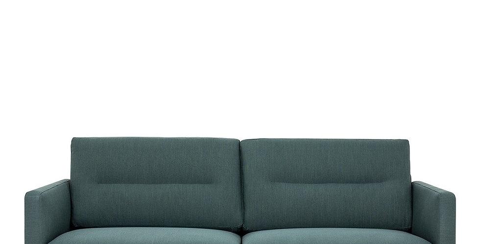 Larvik 2.5 Seater Sofa - Dark Green, Black Legs