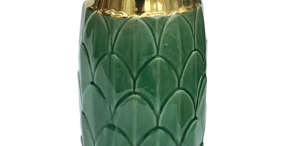 Art Deco Vase - Green