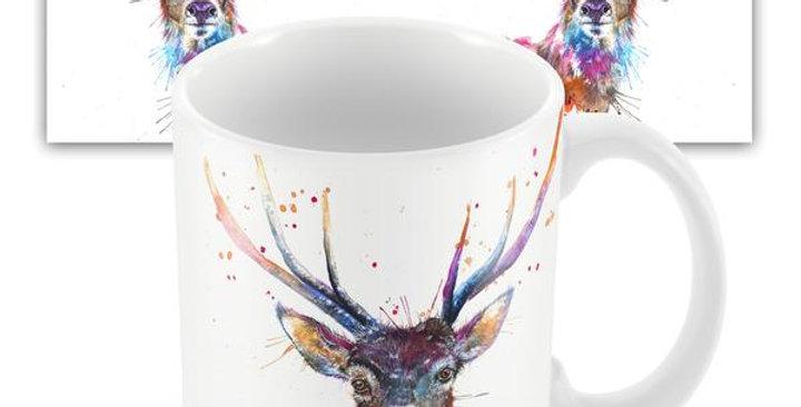Splatter Rainbow Stag mug