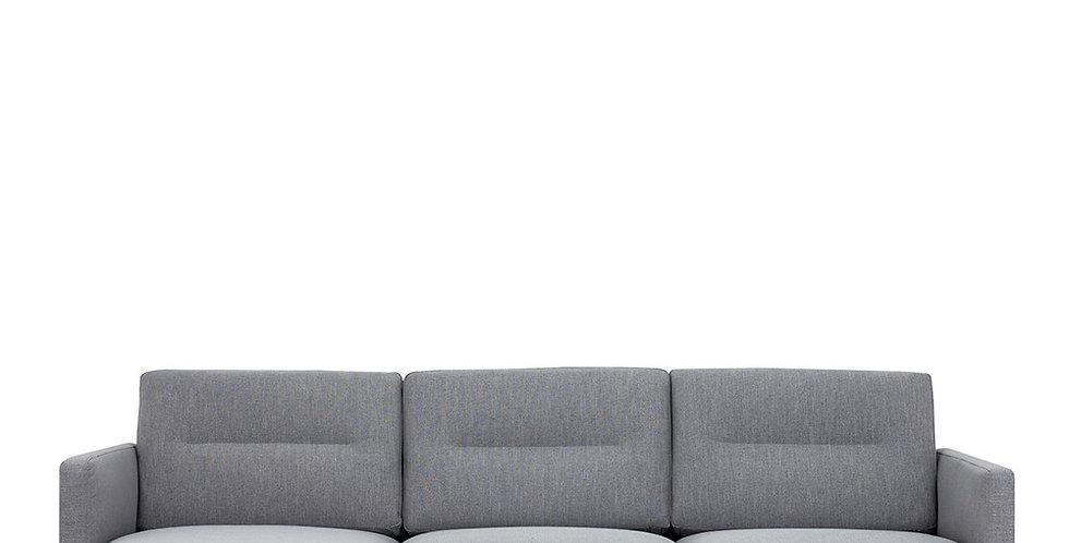 Larvik Chaiselongue Sofa (LH) - Grey , Black Legs