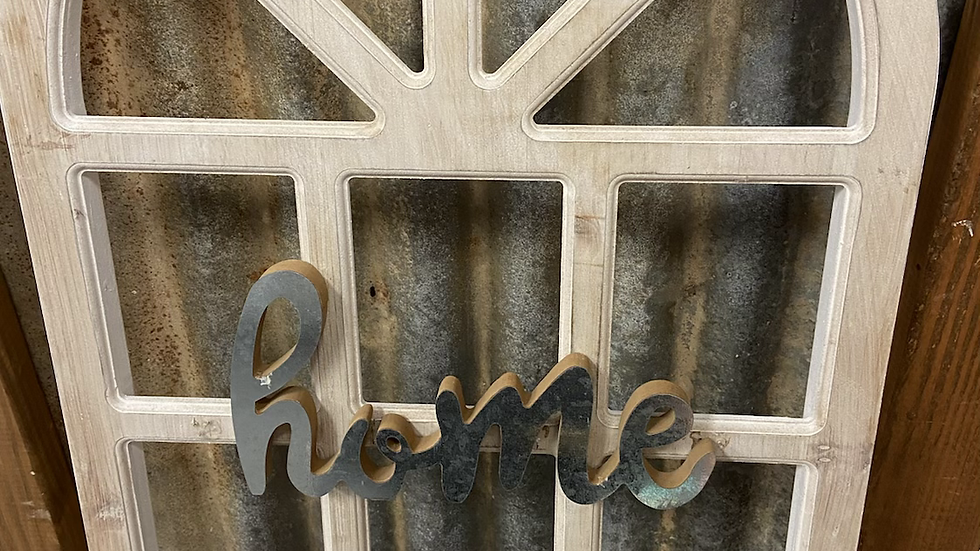"""""""home"""" White Window Frame Home Decor"""