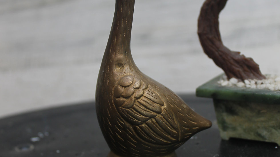 Brass Goose Figurine-Small