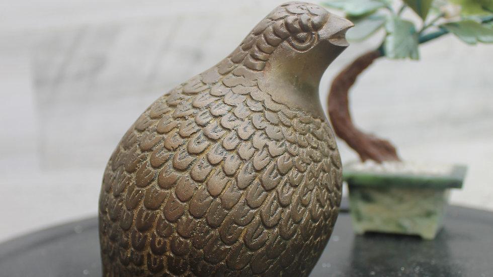 Brass Quail Figurine-Large (C1)