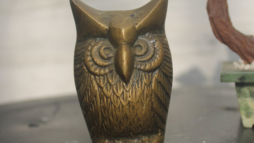 Brass Owl Figurine (D2)-Small