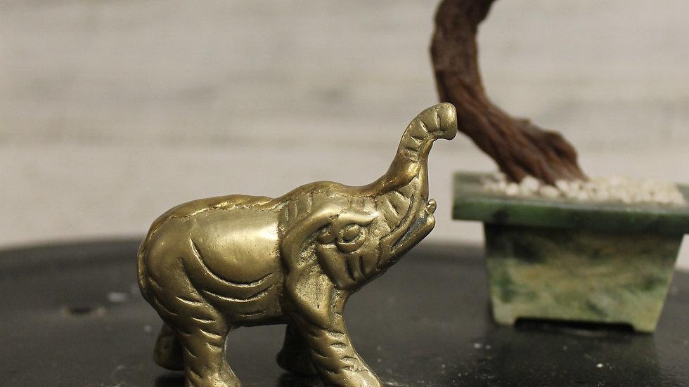 Brass Elephant Figurine-Small