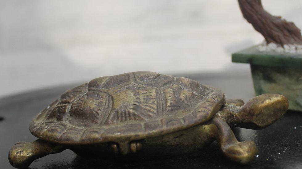 Brass Turtle Figurine with Storage